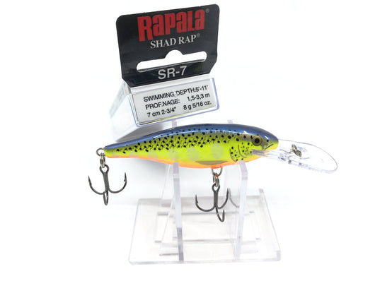 Rapala Shad Rap SR-7 HS Hot Steel Color Deep Runner Lure New in Box