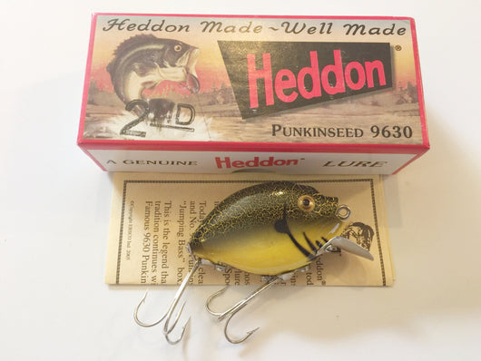 Heddon 9630 2nd Punkinseed YBC Yellow Black Crackleback Color New in Box