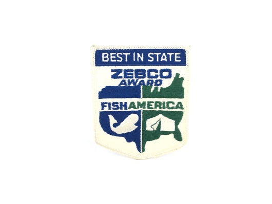 Zebco Fish America Best in State Award Patch