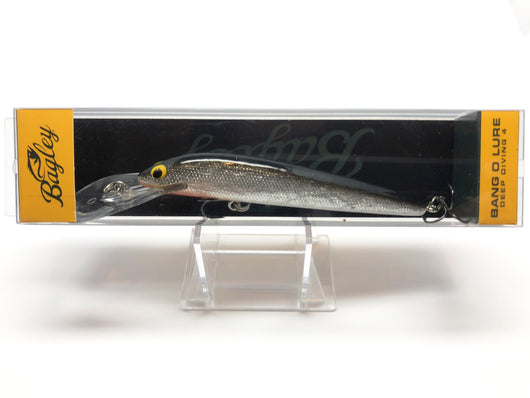Bagley Bang O Lure Deep Diving 4 BLDD4-BS Black Silver Foil Color New in Box OLD STOCK