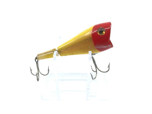 L & S 12M12 Jointed Chugger Lure Red Head and Yellow Body Color