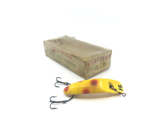 Helin Fly-Rod Flatfish F6 YE Yellow with Red Dots Color in F5 YE Box