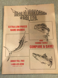 Thos. D. Robinson & Son LTD 1983 Fishing Tackle Catalog