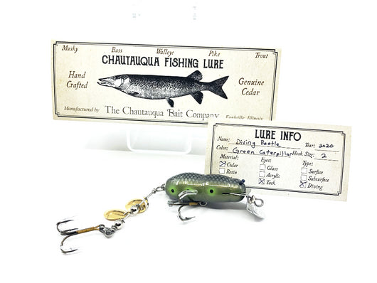 Chautauqua Custom Diving Beetle with Factory Lip GreenCaterpillar Color
