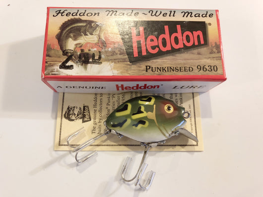 Heddon 9630 2nd Punkinseed DGLF Dark Green Luny Frog Color New in Box