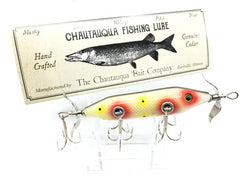 Chautauqua Special Order Wooden 5 Hook Minnow in Strawberry Color