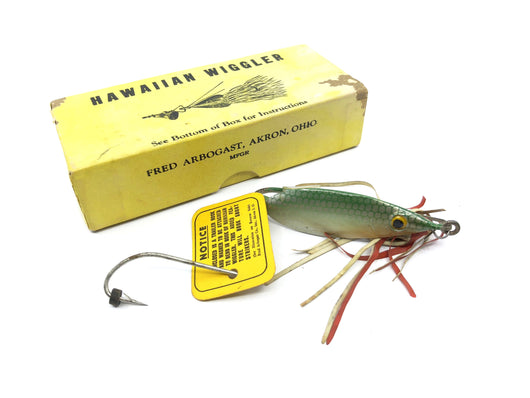 Arbogast Hawaiian Wiggler with Box with Extra Hook and Tag