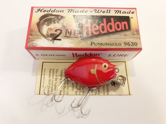 Heddon 9630 2nd Punkinseed RG Red Color New in Box