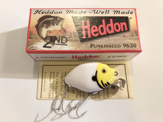 Heddon 9630 2nd Punkinseed WYH White Yellow Head Color New in Box