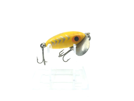 Arbogast Mini Jitterbug Silver Stripes and Yellow Color