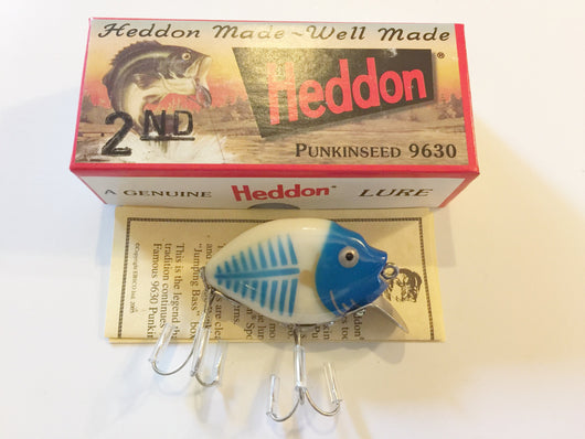 Heddon 9630 Punkinseed BBHBG Bone Shore, Blue Head Color New in Box