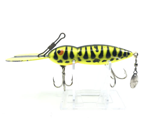 Bomber Waterdog Lure Neon Yellow with Black Spots Color