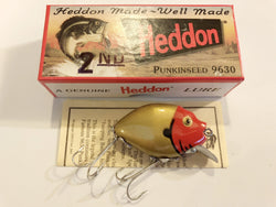 Heddon 9630 2nd Punkinseed GDRH Gold Red Head Color New in Box