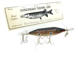 Chautauqua Special Order Wooden 5 Hook Minnow in Red Perch Color