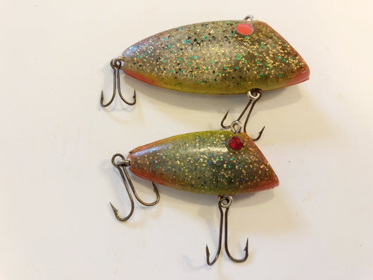 Two Pico Perch type Lures in Sparkle Finish