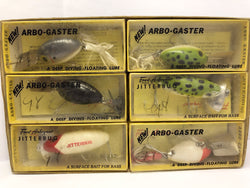 Arbogast Dealer Box of Six.  Arbo-gasters and Jitterbugs NIB