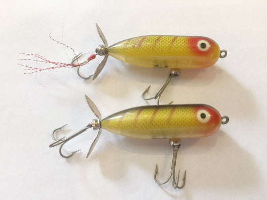 Heddon Baby Torpedo Perch Color Lot of 2