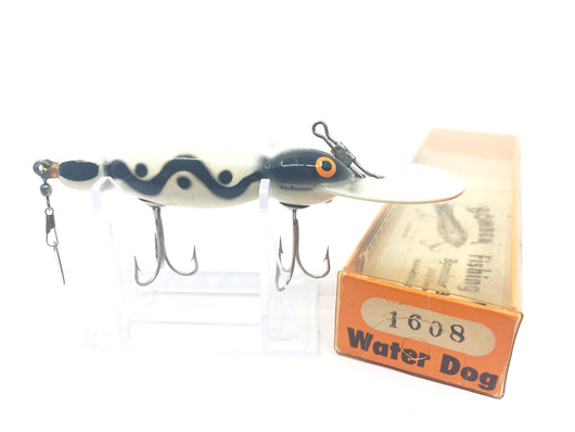 Vintage Wooden Bomber Water Dog 1608 Black Water Wave Color with Box