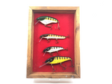 Crane Musky Lures Collector Set of Four Lures Number 1/25 in Case