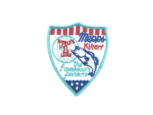 Vintage Mepps Killer World's #1 Lure Fishing Patch