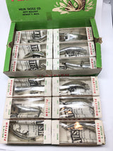 Helin Flatfish Dealer Box of 12 LU SPL Silver Plated Color Lures New in Box