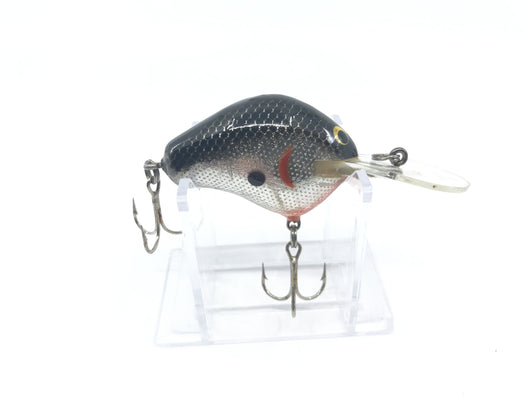 Bagley DB1 Diving Balsa 1 in Black and Silver Foil Color