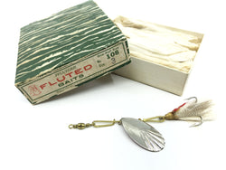 Pflueger Fluted Spinner Size 3 Vintage Dealer box of Six Lures
