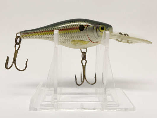 Small Rapala Lure Shad Colored with Red and Yellow Strip