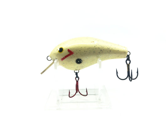 White Crank bait Lightly Sparkled