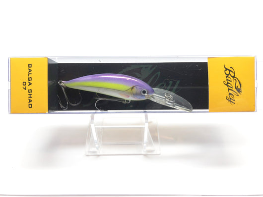 Bagley Balsa Shad 07 BS07-PSS Purple Sexy Shad Color New in Box OLD STOCK