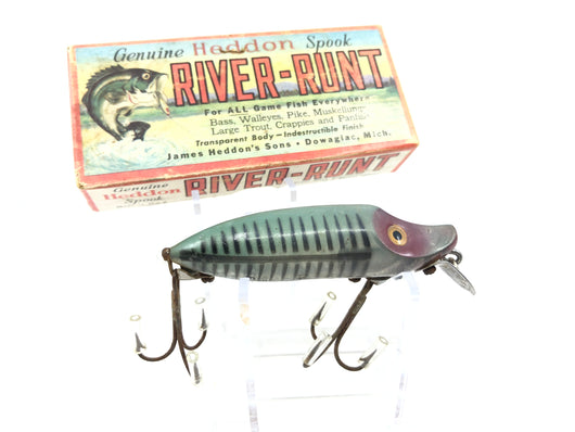 Heddon River Runt Spook Floater 9400 XRG Green Shore Minnow Color with Box