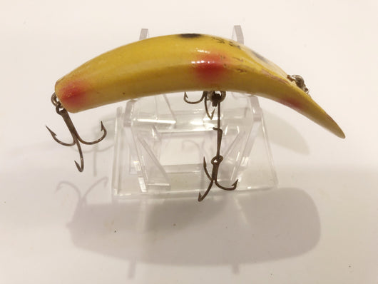 Helin Flatfish S3 Wooden Lure Yellow with Spots