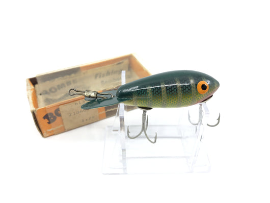 Vintage Wooden Bomber 305 Green Perch Color with Box