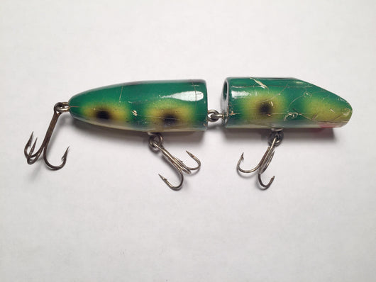 Makinen Holi-Comet Wooden Lure Green Frog Pattern