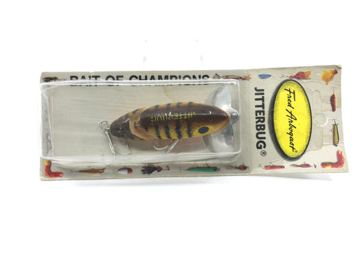 Arbogast Jointed Jitterbug New on Card Color 620 Brown Parrot
