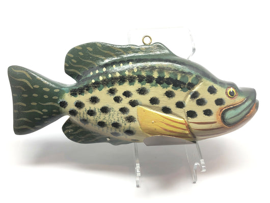 Large Fish Decoy Hand Carved Bass 8