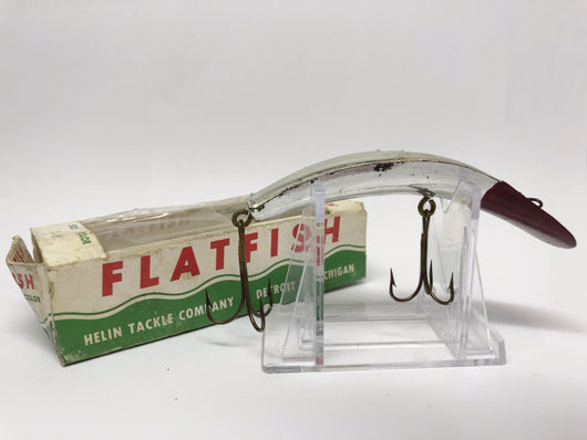 Helin Flathfish Ike T-4 Silver and Red with Box