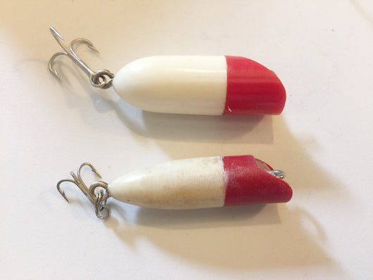Small Bass Oreno type lures.  Plastic.
