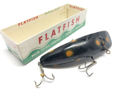 Helin Vintage M2 Musky Flatfish Black with Orange Dots Color with Box