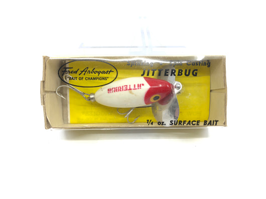 Arbogast Jitterbug Red and White in Box
