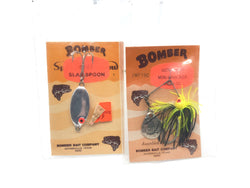 Bomber Ultra Light Mini Whacker and Slab Spoon New on Cards