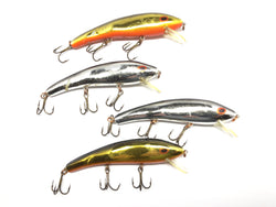 Lot of Four Cotton Cordell Ripplin Redfin Lures for Sale