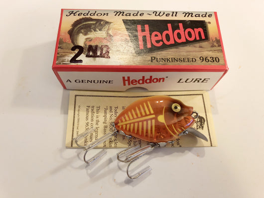 Heddon 9630 2nd Punkinseed XOY Spook Glow Orange Yellow Color New in Box