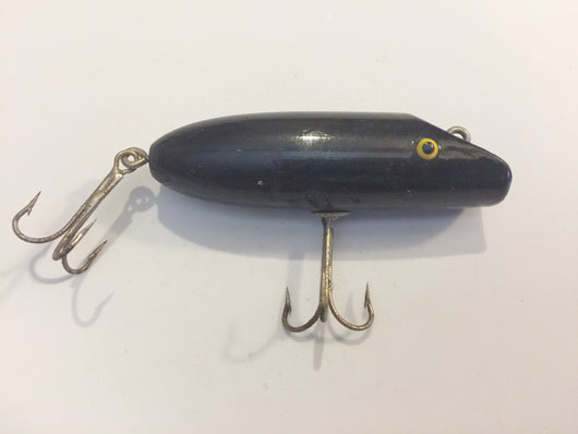 South Bend Babe-Oreno TYPE Lure.  Wooden tack eyed all black!