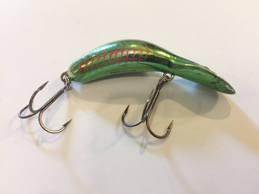 Heddon Tadpolly Clatter Tad Green Red Stripes Pattern