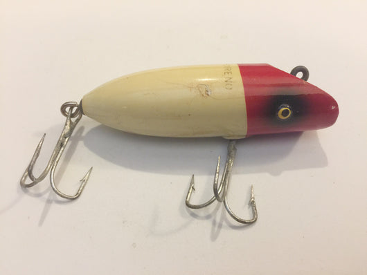 South Bend Babe-Oreno Red and White Wooden Lure