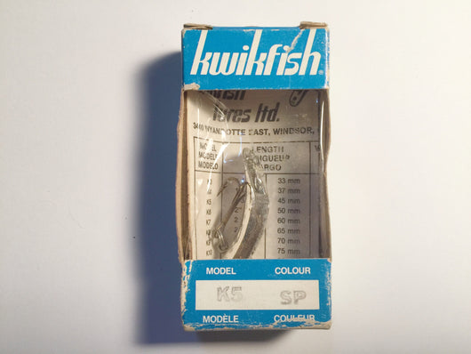 Vintage Kwikfish K5 SP New In Box Silver Color