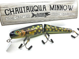 "Jointed Chautauqua 8"" Minnow Musky Lure Special Order Color ""HD Black Trout"""