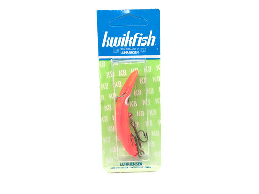 Kwikfish K8 Color 913 Flo Red Fire (RF) New on Card Old Stock