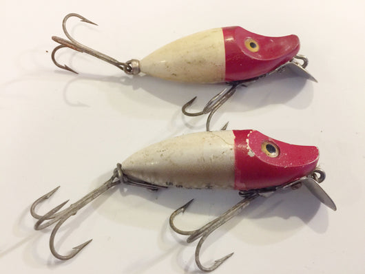 Heddon River Runt Spooks Lot of 2 Red and White